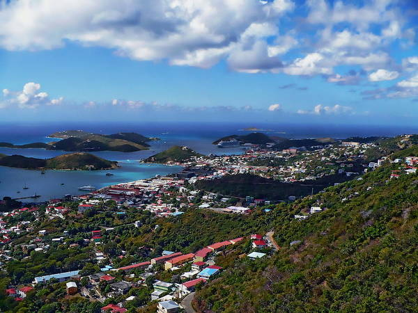 Photograph - Charlotte Amalie Panorama by Anthony Dezenzio