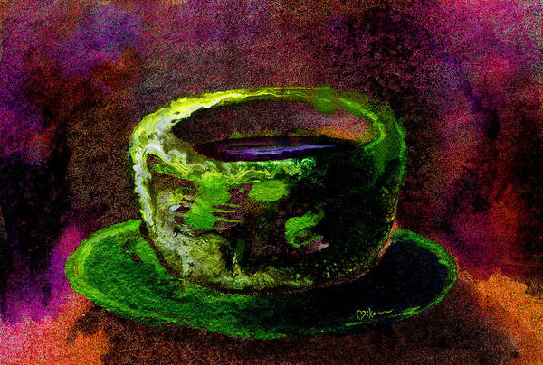Wall Art - Painting - Chartreuse Tea by Miko At The Love Art Shop