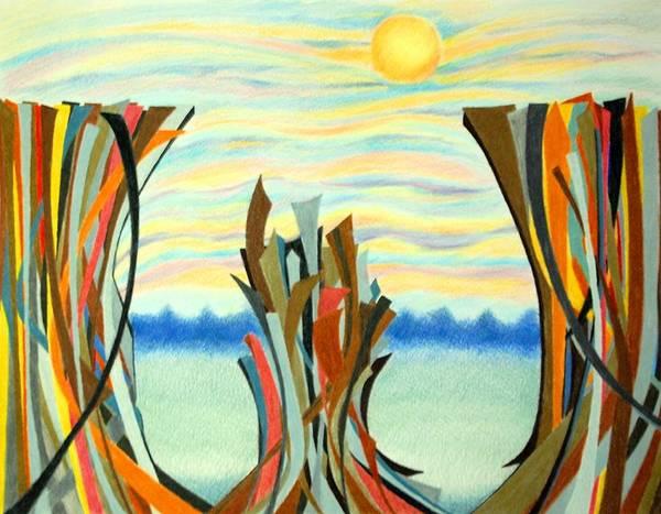 Wall Art - Drawing - Chasm by Sharon Blanchard