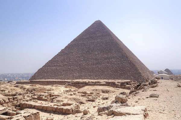 Giza Photograph - Cheops Pyramid - Egypt by Joana Kruse