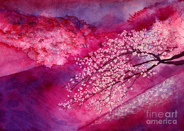 Monochrome Painting - Cherry Blossoms by Hailey E Herrera