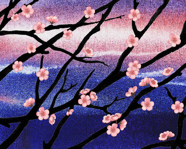 Painting - Cherry Blossoms by Irina Sztukowski
