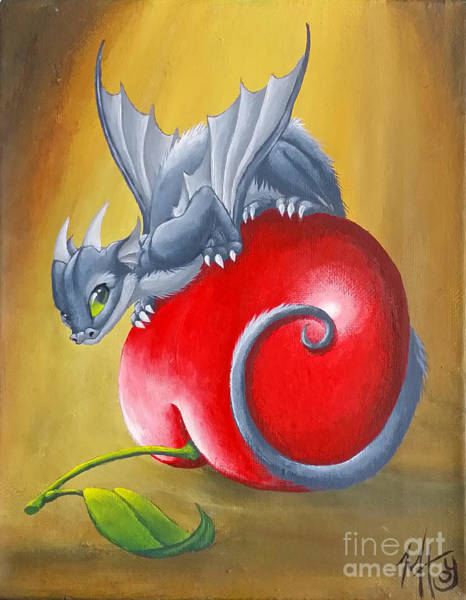 Painting - Cherry Dragon by Mary Hoy