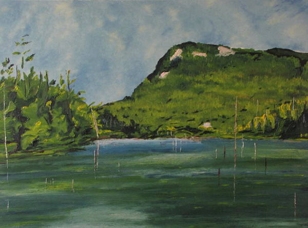 Wall Art - Painting - Cherry Pond Orford National Park Quebec Canada by Francois Fournier