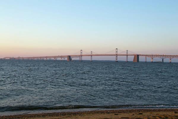 Sandy Point State Park Photograph - Chesapeake Bay Bridge - Maryland by Brendan Reals