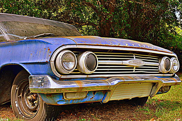 Photograph - Chevrolet Bel Air 2 by Lisa Wooten