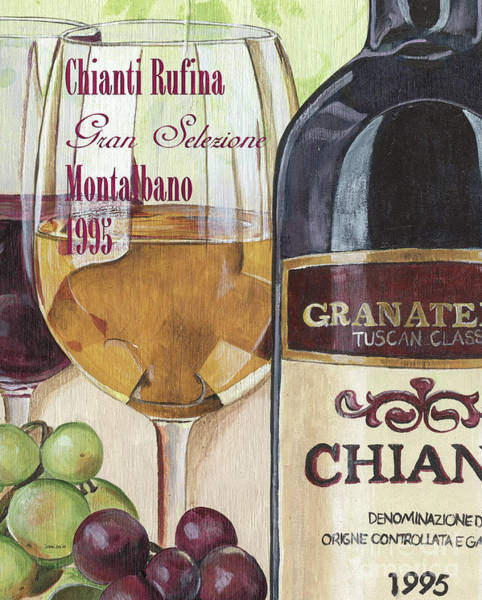 Label Painting - Chianti Rufina by Debbie DeWitt