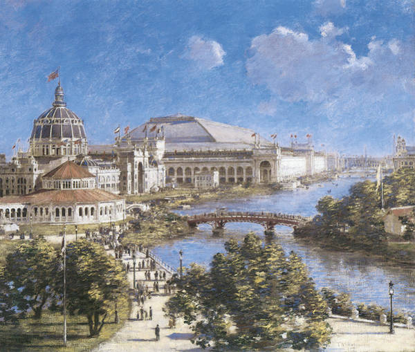 Vintage Chicago Painting - Chicago Columbian Exposition by Theodore Robinson