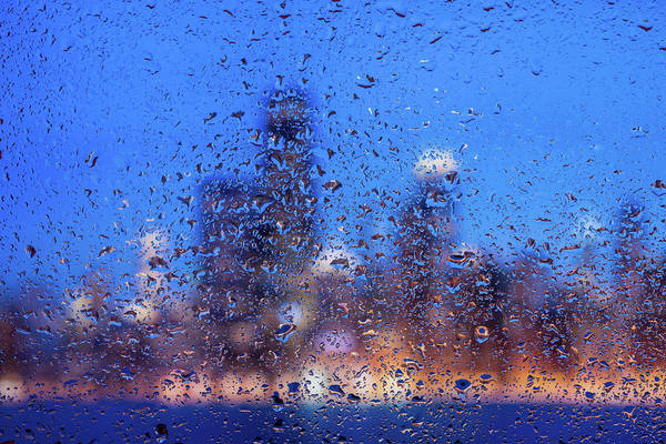 Wall Art - Photograph - Rainy Chicago Lakefront Blues by Steve Gadomski