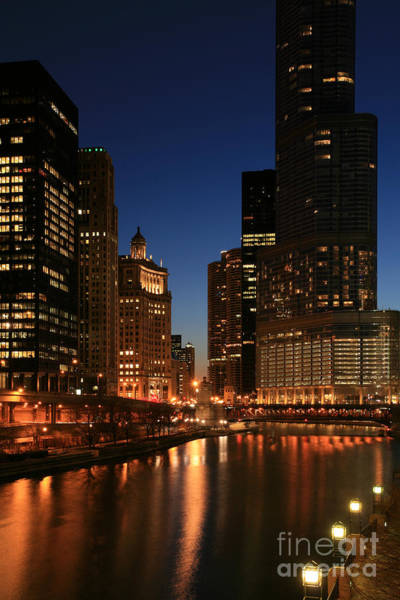 Chicago River Reflections Art Print