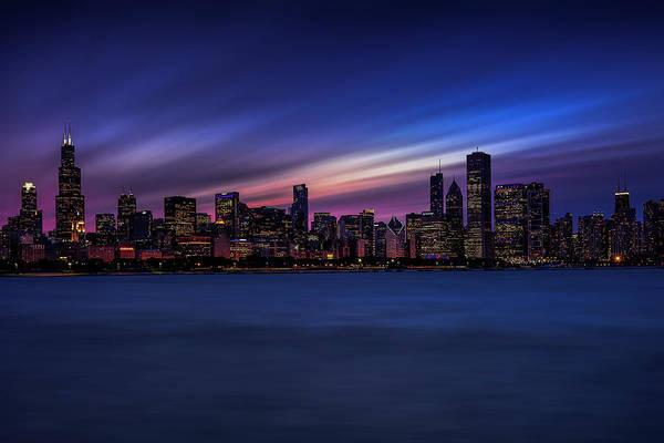 Wall Art - Photograph - Chicago Skyline At Dusk by Andrew Soundarajan