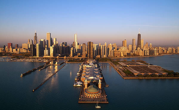 Chicago Skyline Photograph - Chicago Skyline by Jeff Lewis