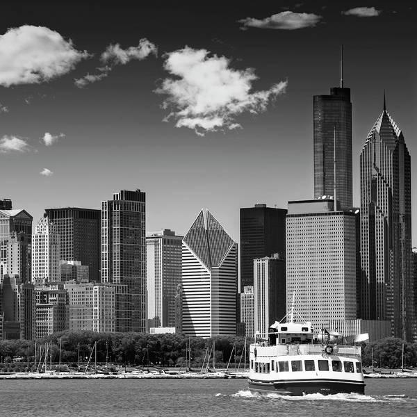 Wall Art - Photograph - Chicago Skyline - Monochrome by Melanie Viola