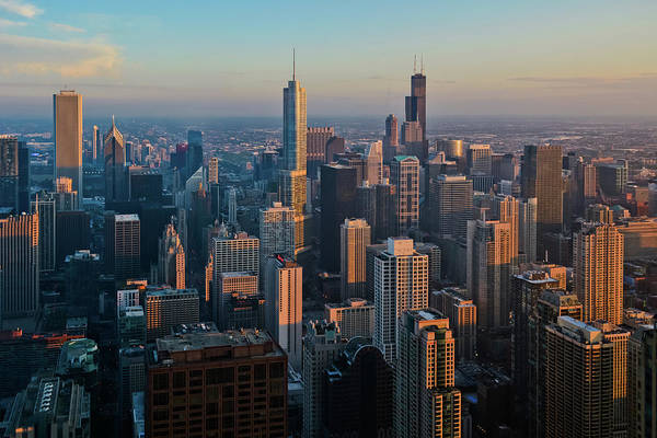 Photograph - Chicago Skyline Sunset  by Kyle Hanson