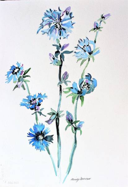 Wall Art - Painting - Chicory  by Mindy Newman