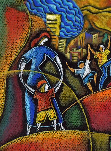 Wall Art - Painting - Childhood by Leon Zernitsky