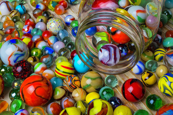 Memory Game Photograph - Childhood Marbles by Garry Gay