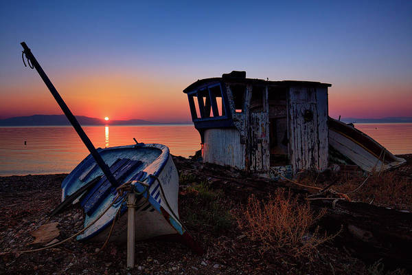 Photograph - Boat Cemetery  by Emmanuel Panagiotakis