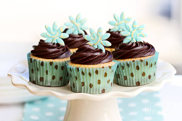 Wall Art - Photograph - Chocolate Cupcakes by Ruth Black