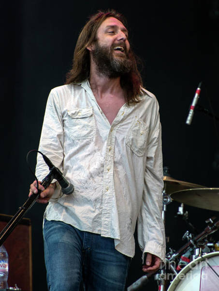 Black Crowes Wall Art - Photograph - Chris Robinson With The Black Crowes by David Oppenheimer