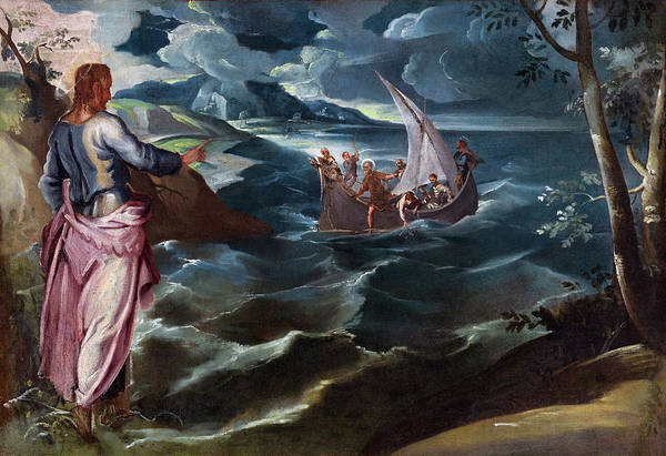 Painting - Christ At The Sea Of Galilee by Jacopo Tintoretto