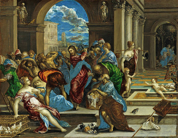 Painting -  Christ Cleansing The Temple by El Greco