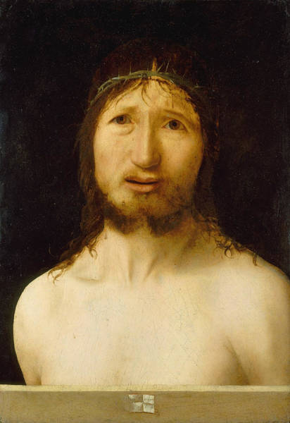 Redeemer Wall Art - Painting - Christ Crowned With Thorns by Antonello da Messina