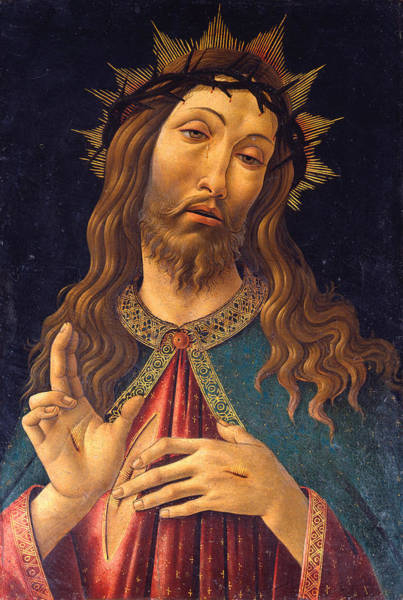 Redeemer Wall Art - Painting - Christ Crowned With Thorns by Sandro Botticelli