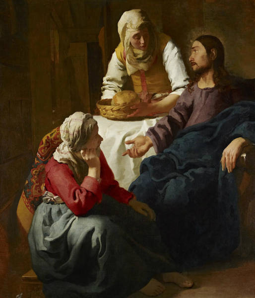 Painting - Christ In The House Of Martha And Mary by Jan Vermeer