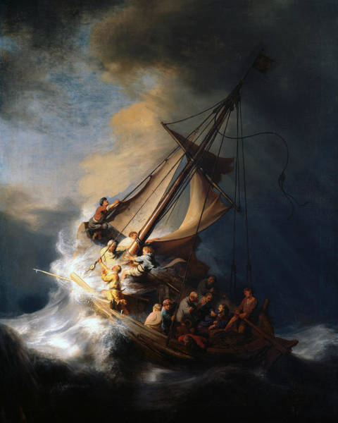 Painting - Christ In The Storm On The Lake Of Galilee by Rembrandt