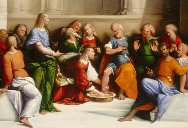 16th Century Wall Art - Painting - Christ Washing The Disciples' Feet by Garofalo