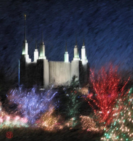 Christmas At The Temple Art Print