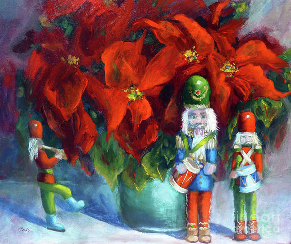 Painting - Christmas Band by Carolyn Jarvis
