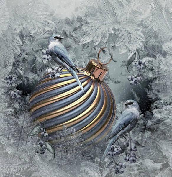 Season Mixed Media - Christmas Bulb by G Berry