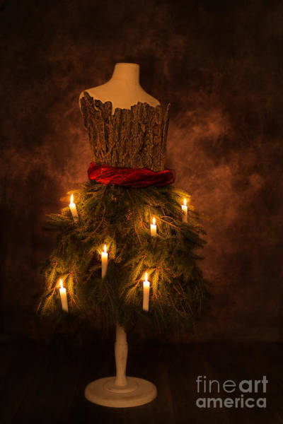 Dress Form Photograph - Christmas Candles by Amanda Elwell
