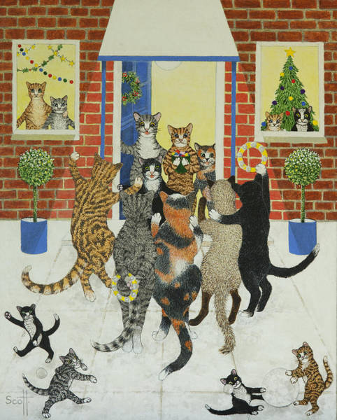 Different Painting - Christmas Carols by Pat Scott
