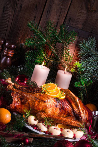 Duck Meat Photograph - Christmas Duck by Darius Dzinnik