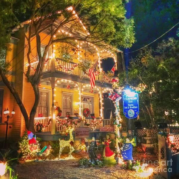 Wall Art - Photograph - Christmas House by Debbi Granruth