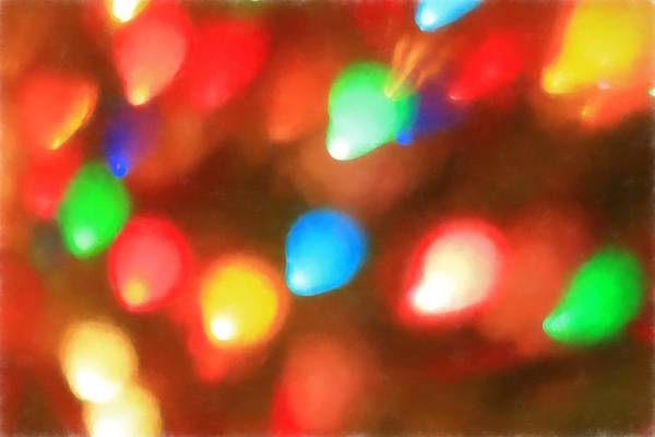 Painting - Christmas Lights by Dan Sproul