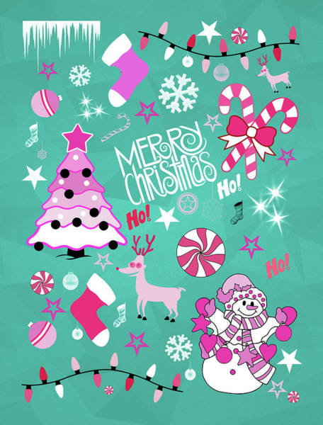 Christmas Card Painting - Christmas by Mark Ashkenazi