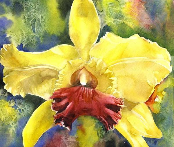 Painting - Christmas Orchid by Alfred Ng