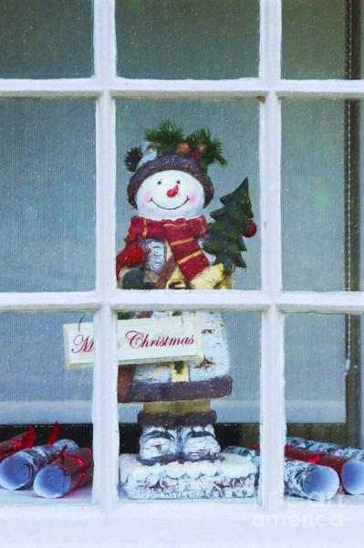 Snowman Photograph - Christmas Snowman by Tim Gainey