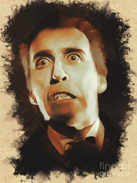 Dracula Painting - Christopher Lee As Dracula by Mary Bassett