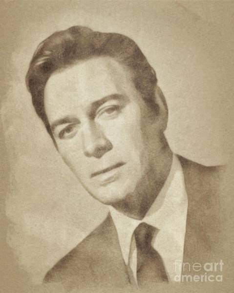 Pinewood Drawing - Christopher Plummer, Vintage Actor By John Springfield by John Springfield
