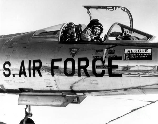 Wall Art - Photograph - Chuck Yeager, Usaf Officer And Test by Science Source