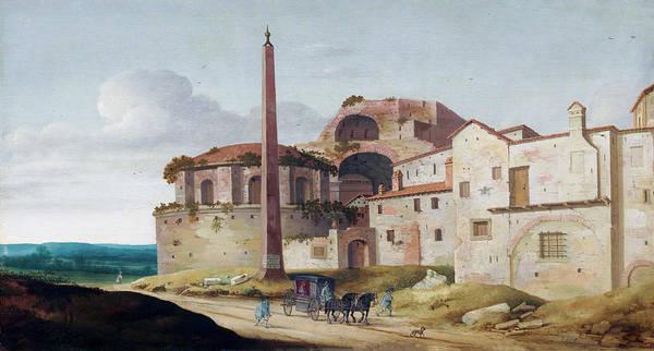 Painting - Church Of Santa Maria Della Febbre by Pieter Jansz Saenredam