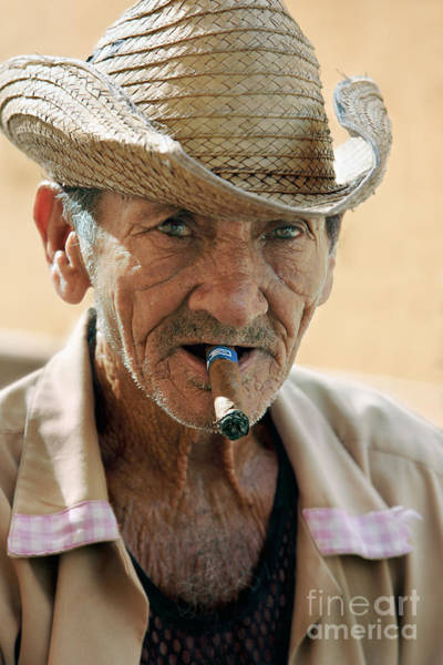 Street Rod Photograph - Cigar Smoking - Trinidad - Cuba by Rod McLean