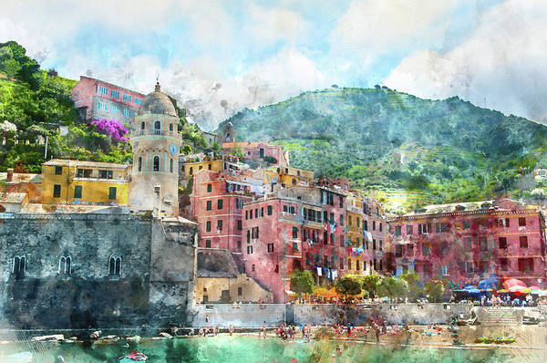 Photograph - Cinque Terre Italy by Brandon Bourdages