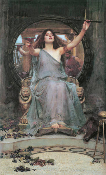 Painting - Circe Offering The Cup To Odysseus by John William Waterhouse