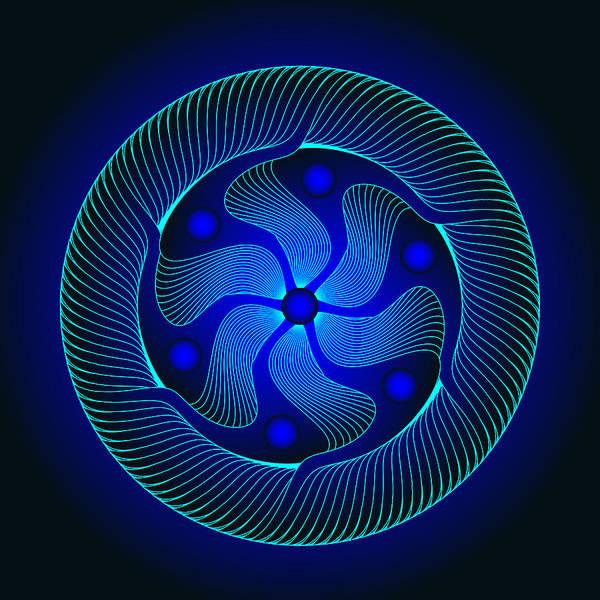 Digital Art - Circle Study No. 371.1 by Alan Bennington